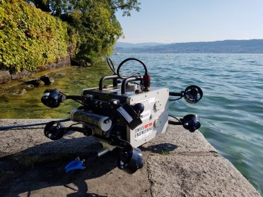 The founder of Tethys Robotics, Christian Engler, started building ROVs at an age of 16. His first ROV was able to dive into a depth of 100 meters and was capable of searching shipwrecks in Switzerlands lakes. Through his enthusiasm for the underwater world, fellow students of different fields from ETH Zurich joined the idea of building an ROV. During the timespan of six months, the team of eight student built the marsupial robot system SCUBO 2.0 and SCUBOLINO for the MATE International ROV competition.   Now, Tethys Robotics focuses on developing new systems for real world application in rivers.